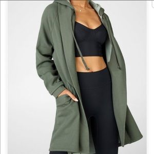 Fabletics Valentina Green Hooded Cardigan L NWT